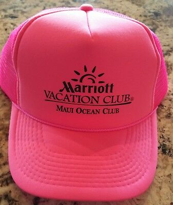 Marriott's Vacation Club - Maui Ocean Club - Hat Baseball Cap  PINK Adjustable