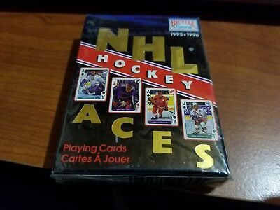 1995-96 Bicycle Sports Collection Nhl Hockey Aces Playing Cards Sealed