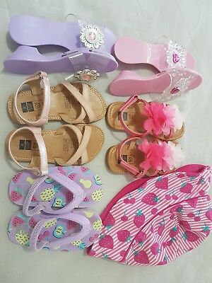 Girls Shoe Bundle Size 7 And 8 and swim hat