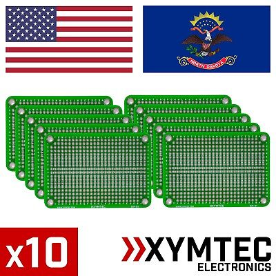5 Pack - XYMTEC DIP-01 - DIP IC Prototype double sided PCB with Power Rails