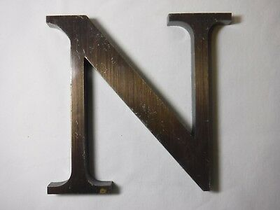 "Vintage Cast Bronze 6"" Letter ""N"" - Marquee - Theater - Wedding Decor"