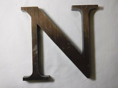 "Vintage Cast Bronze 6"" Letter ""N"" - Marquee - Theater - Wedding Decor (b)"