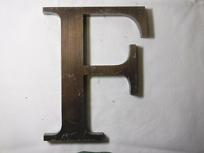"Vintage Cast Bronze 8"" Letter ""F"" Marquee - Theater - Wedding Decor"