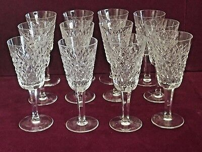 """Set of 12 Waterford Alana Sherry Wine Cut Crystal Glasses 5 1/4"""""""