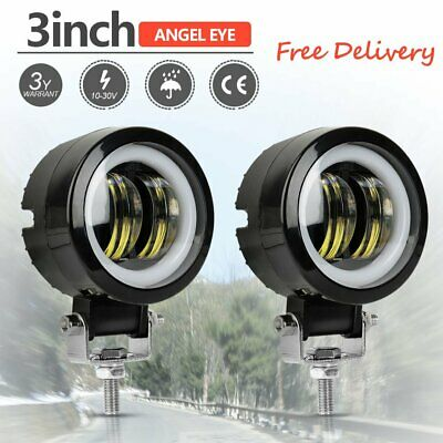 3''inch 20W Cree LED Spot Round Work Lights Driving Pods Offroad Motorcycle 2PCS