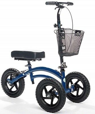 Alternative to Crutches Knee Walker Scooter All Terrain Steerable Versatile Blue