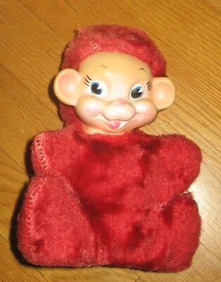 Vintage Collectible  Stuffed Bear or Monkey Rubber Face