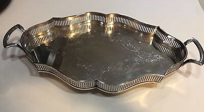 Sheffield Marked Sterling Silver Large Tray