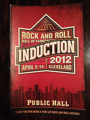 Rock and Roll Hall Of Fame 2012 Induction Ceremony Program Pamphlet Beastie Boys