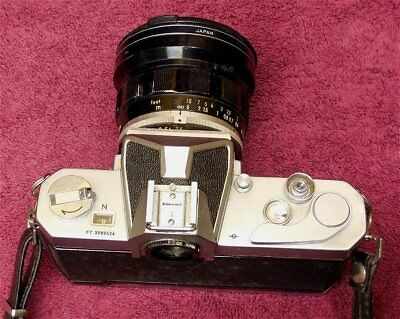 Nikon Nikkormat FT 35mm Camera With 2 Lenses Nikkor-UD / Nikkor-H & Acc.