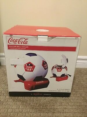 Koolatron Thermoelectric 7.5 in. 5 (12 oz.) Can Soccer Ball Cooler Coca Cola