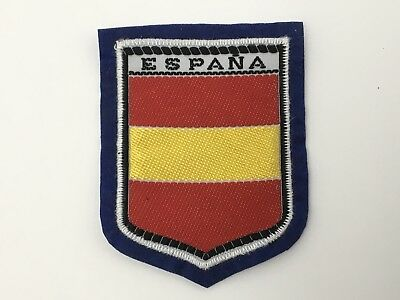 Vintage Espana Spain Patch Travel Unsewn Felt Back