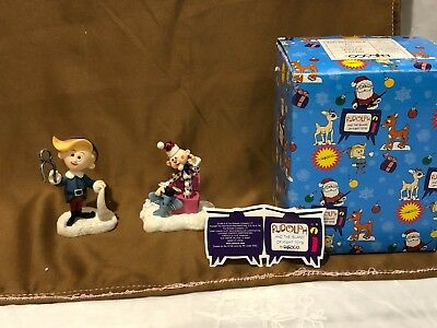 Vintage Enesco Rudolph And The Island Of Misfit Toys Hermey & Charlie Figurine