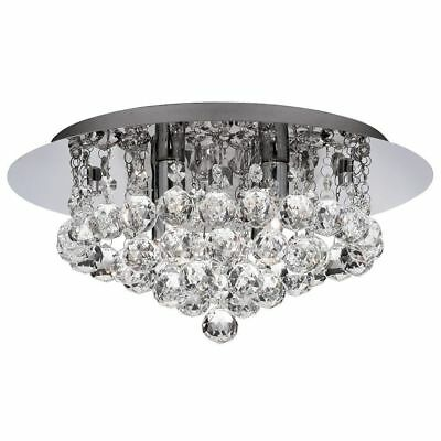 Searchlight 4404-4CC IP44 Hanna Chrome 4 Light Bathroom Fitting Crystal Ball