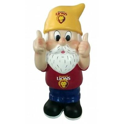 Brisbane Lions Thumbs Up Official AFL Garden Gnome Gift Box 30cm