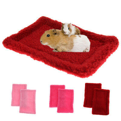 2x Soft and Warm Guinea Pig / Dwarf Hamster / Gerbil Cage Accessories Mat