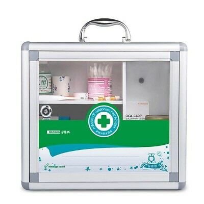First Aid Kit Empty Metal Storage Box Home Health Wall Mountable great gift