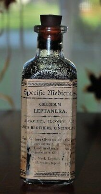 Antique Pharmacy Medicine Lloyd Brothers Leptandra For Digestive Apparatus