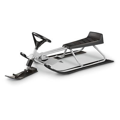 Snow Racer Sled Winter Snowmobile w/ Wide-track Skis