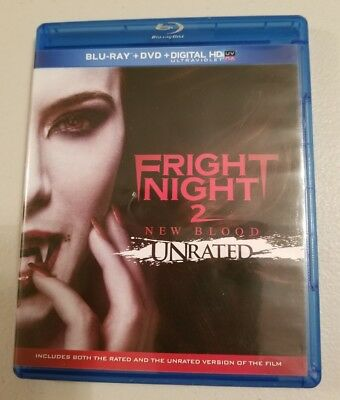 FRIGHT NIGHT 2 NEW BLOOD ( 2013 New  Blu-ray + DVD 2-Disc Rated / Unrated