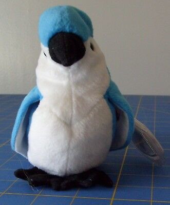 Ty Beanie Baby, Rocket the Blue Jay (1997, Retired)