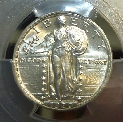1920  PCGS  Genuine  UNC Details,  Standing Liberty Quarter,  Beautiful Piece