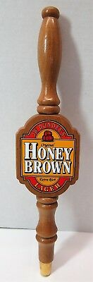 Vintage J.w. Dundee's Honey Brown Lager Wooden Beer Tap Handle Pull Knob