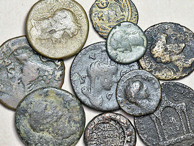 Antioch. lot of 10 bronze coins, various emperors, weights and sizes