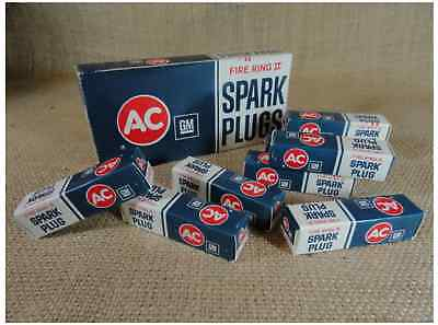 Vintage 35 Yr Old Ac Fire Ring Spark Plugs Nos