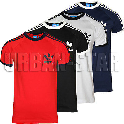 Adidas Men's Originals California TShirt Crew Neck Retro Cotton T-Shirt S M L XL