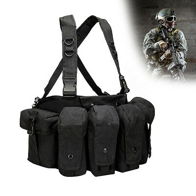 Tactical Vest Adjustable Military Army Molle Combat Police SWAT Hunting