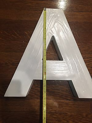 "16"" Vintage Die Cast Aluminum Industrial A Letter Outdoor Decor Metal"