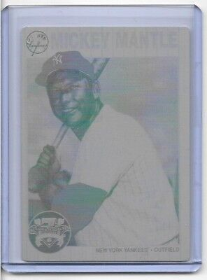 1 of 1 MICKEY MANTLE SP 1997 SHOE BOX COLLECTION PRINTING PRESS PLATE NY YANKEES