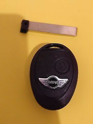 Bmw Mini Cooper R50 R53 S One 2 Button Remote Key Fob Case + Logo