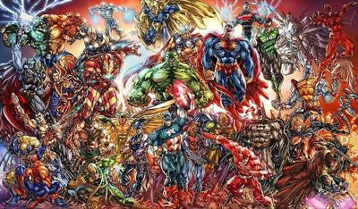 Y-208 Marvel DC Comics Superhero 27x40 24x36 Hot Poster Characters