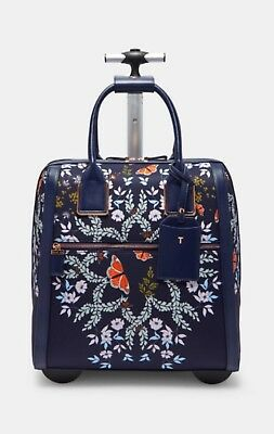 66d793a29 Ted Baker Two Wheel Travel Carry On Luggage Blue Kyoto Gardens Dafni NEW