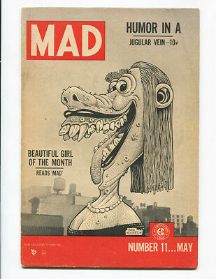 MAD #11 (1954) VG 4.0, Life Magazine Cover Spoof! ~ BEAUTIFUL GIRL OF THE MONTH!