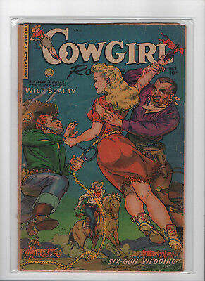 Cowgirl Romances #8 & #12 Low Grade Poor Condition Comic Lot of 2 Books Golden