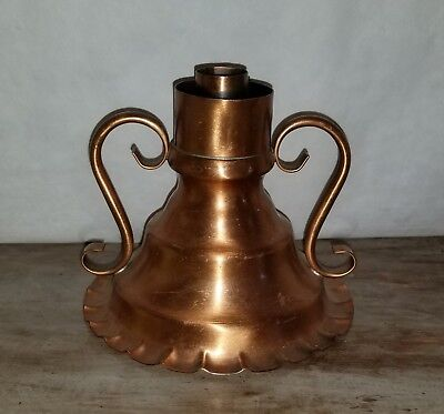 Vintage Solid Copper Chamber Stick Candle Holder Beautiful Piece