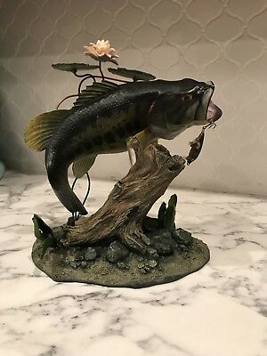 Danbury Mint Backwater Bass By George Kruth Sculpture