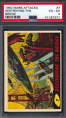 1962 Mars Attacks — Destroying The Bridge #7  — PSA 4
