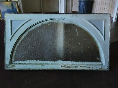 Antique Door Header/Pediment Ornate Wood Privacy Arched Snow Flake Glass