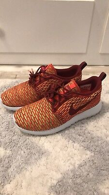 new arrival 5759f 3858c Nike Roshe One Flyknit Shoes Team Red Bright Crimson Volt SZ 7.5WMNS 704927- 600
