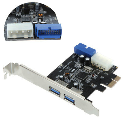 SuperSpeed 2- Port PCI-E to USB 3.0 HUB PCI Express Expansion Card Adapter G5M6