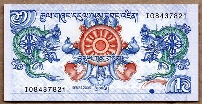 Bhutan UNC Note 1 Ngultrum 2006 P-27