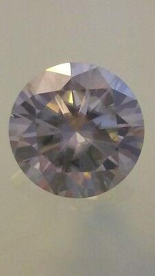 Moissanite Diamant weiß 7.40carat Rund 13.02mm VVS1 Color I-J Brillant Diamond
