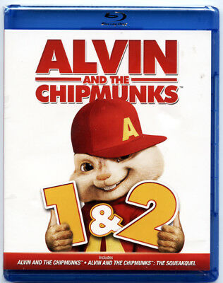 Alvin and the Chipmunks 1  2 (Blu-ray Disc, 2013) - BRAND NEW SEALED