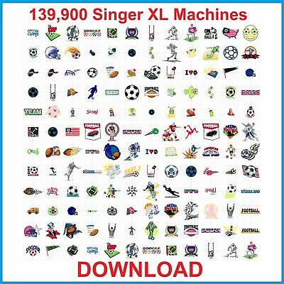 139,900 Singer XL Machines XXX Format EMBROIDERY Designs DOWNLOAD