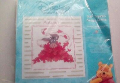 disney winnie the pooh cross stitch kit eeyores Autumn leaves