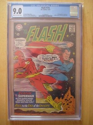 DC Comics FLASH 175 cgc 2ndsuperman vs flash race 9.0 1967 silver age